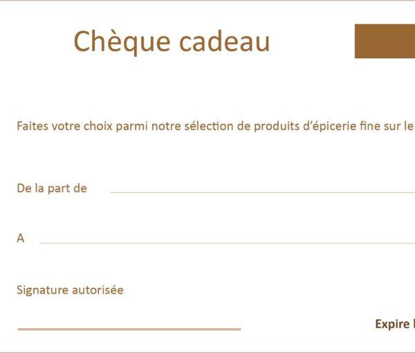 Chèque cadeau épicerie fine Ecophil 100 €